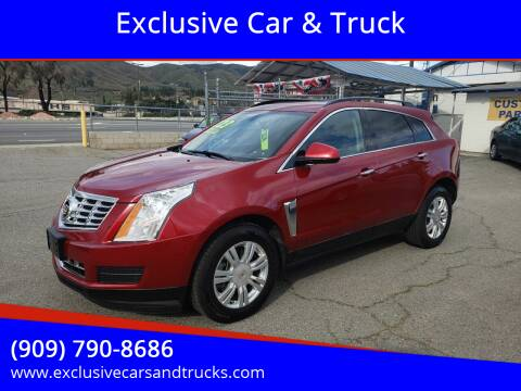 2013 Cadillac SRX for sale at Exclusive Car & Truck in Yucaipa CA