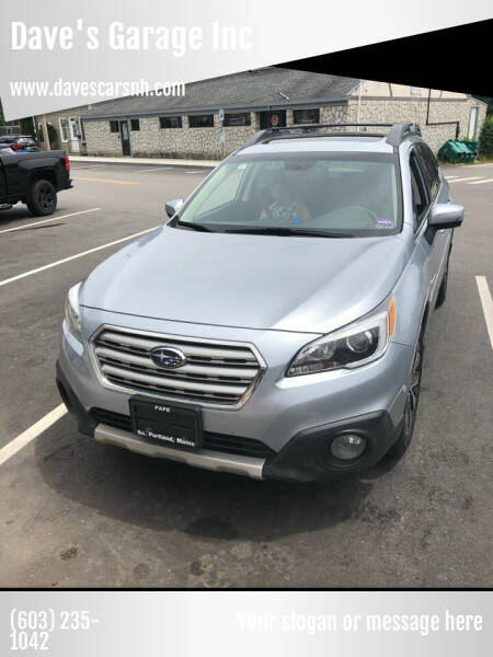 2016 Subaru Outback for sale at Dave's Garage Inc in Hampton Beach NH