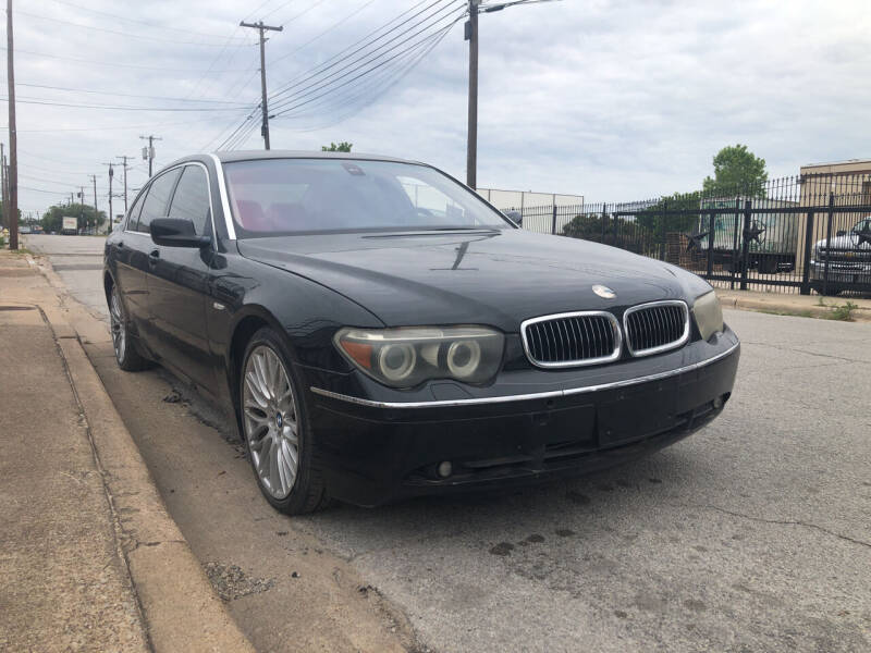 2005 BMW 7 Series for sale at Dynasty Auto in Dallas TX