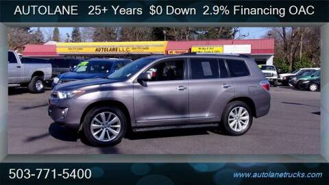 2013 Toyota Highlander Hybrid for sale at Auto Lane in Portland OR