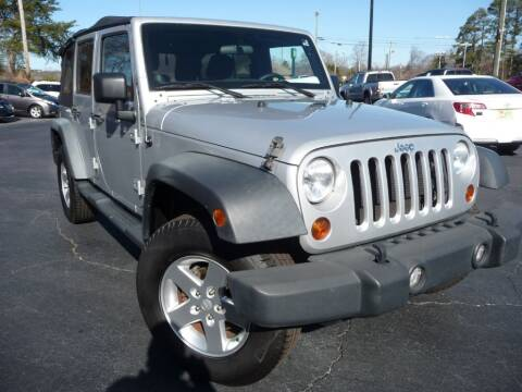 2012 Jeep Wrangler Unlimited for sale at Wade Hampton Auto Mart in Greer SC