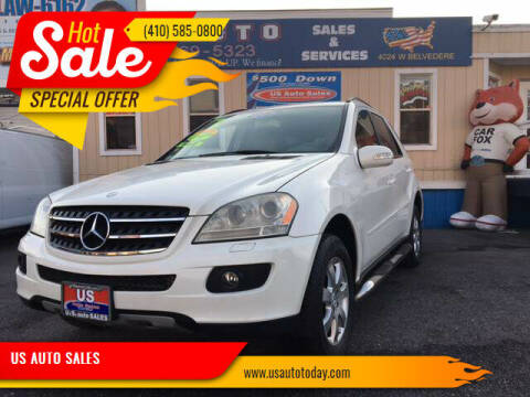 2007 Mercedes-Benz M-Class for sale at US AUTO SALES in Baltimore MD