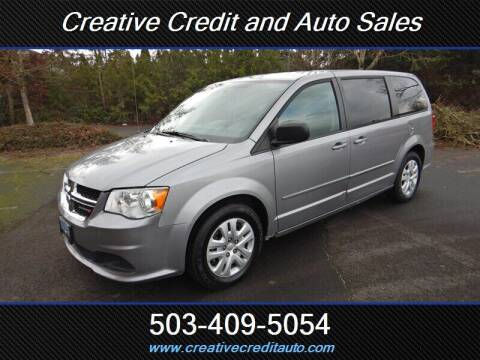 2014 Dodge Grand Caravan for sale at Creative Credit & Auto Sales in Salem OR
