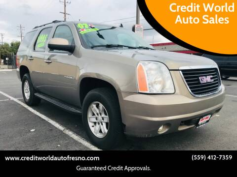 2007 GMC Yukon for sale at Credit World Auto Sales in Fresno CA