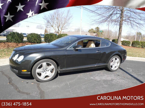 2005 Bentley Continental for sale at CAROLINA MOTORS in Thomasville NC