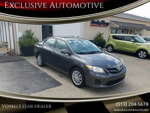 2012 Toyota Corolla for sale at Exclusive Automotive in West Chester OH