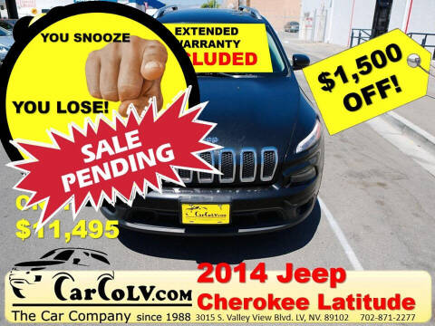 2014 Jeep Cherokee for sale at The Car Company in Las Vegas NV