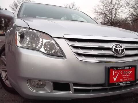 2007 Toyota Avalon for sale at 1st Choice Auto Sales in Fairfax VA