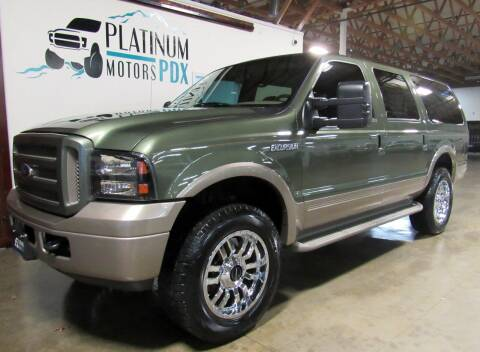 2005 Ford Excursion for sale at Platinum Motors in Portland OR