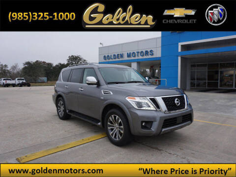 2019 Nissan Armada for sale at GOLDEN MOTORS in Cut Off LA