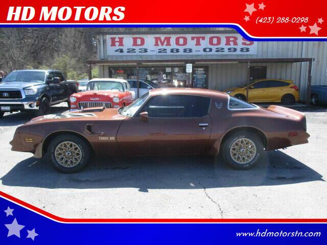 1978 Pontiac Trans Am for sale at HD MOTORS in Kingsport TN