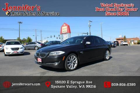 2012 BMW 5 Series for sale at Jennifer's Auto Sales in Spokane Valley WA