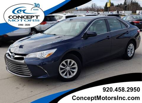 2016 Toyota Camry for sale at CONCEPT MOTORS INC in Sheboygan WI