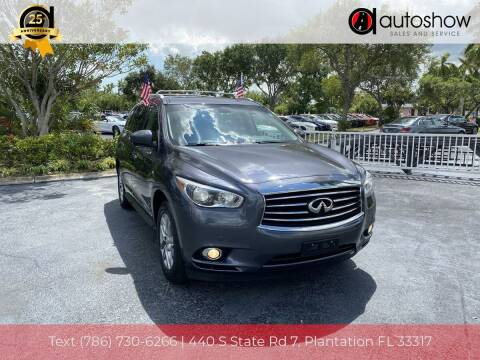 2014 Infiniti QX60 for sale at AUTOSHOW SALES & SERVICE in Plantation FL