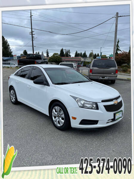 2012 Chevrolet Cruze for sale at Corn Motors in Everett WA