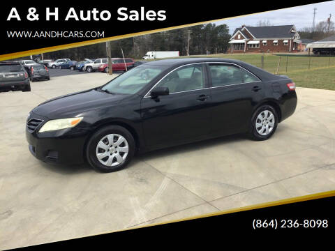 2011 Toyota Camry for sale at A & H Auto Sales in Greenville SC