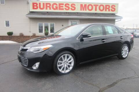 2013 Toyota Avalon for sale at Burgess Motors Inc in Michigan City IN