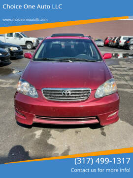 2007 Toyota Corolla for sale at Choice One Auto LLC in Beech Grove IN