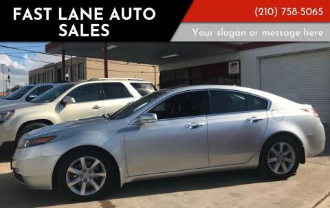 2013 Acura TL for sale at FAST LANE AUTO SALES in San Antonio TX