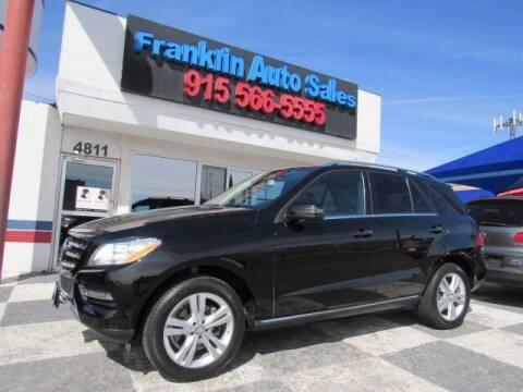 2013 Mercedes-Benz M-Class for sale at Franklin Auto Sales in El Paso TX