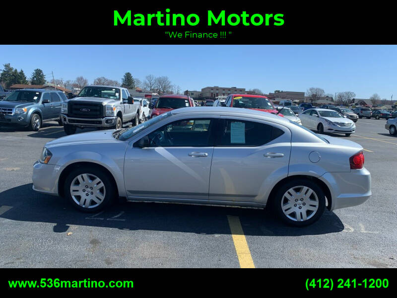 2011 Dodge Avenger for sale at Martino Motors in Pittsburgh PA
