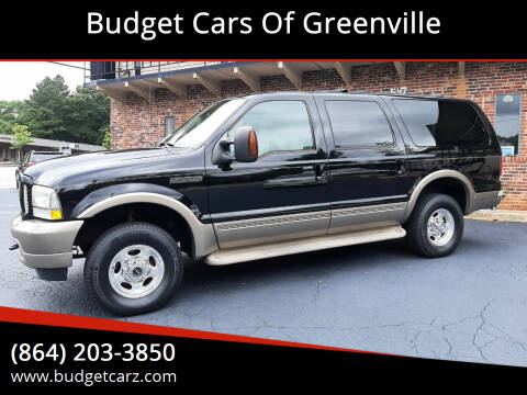 2004 Ford Excursion for sale at Budget Cars Of Greenville in Greenville SC