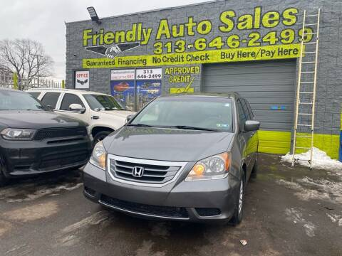 2009 Honda Odyssey for sale at Friendly Auto Sales in Detroit MI