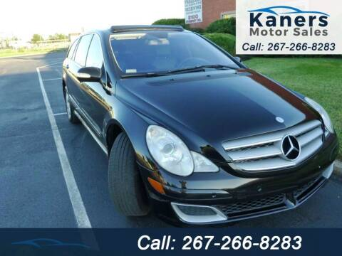 2007 Mercedes-Benz R-Class for sale at Kaners Motor Sales in Huntingdon Valley PA