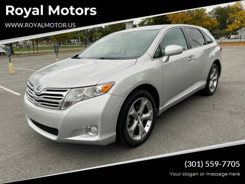 2009 Toyota Venza for sale at Royal Motors in Hyattsville MD