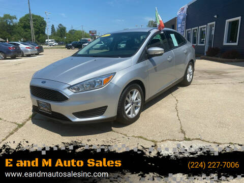2015 Ford Focus for sale at E and M Auto Sales in East Dundee IL