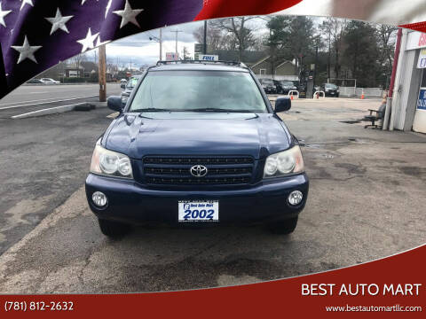 2002 Toyota Highlander for sale at Best Auto Mart in Weymouth MA