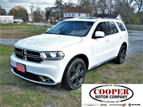 2015 Dodge Durango for sale at Cooper Motor Company in Clinton SC