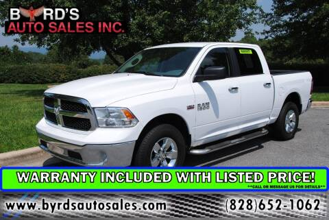 2017 RAM Ram Pickup 1500 for sale at Byrds Auto Sales in Marion NC