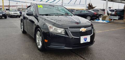 2014 Chevrolet Cruze for sale at I-80 Auto Sales in Hazel Crest IL