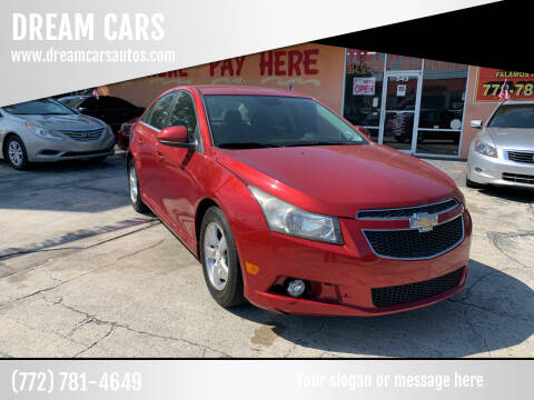 2012 Chevrolet Cruze for sale at DREAM CARS in Stuart FL