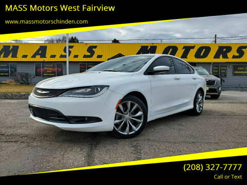 2016 Chrysler 200 for sale at MASS Motors West Fairview in Boise ID