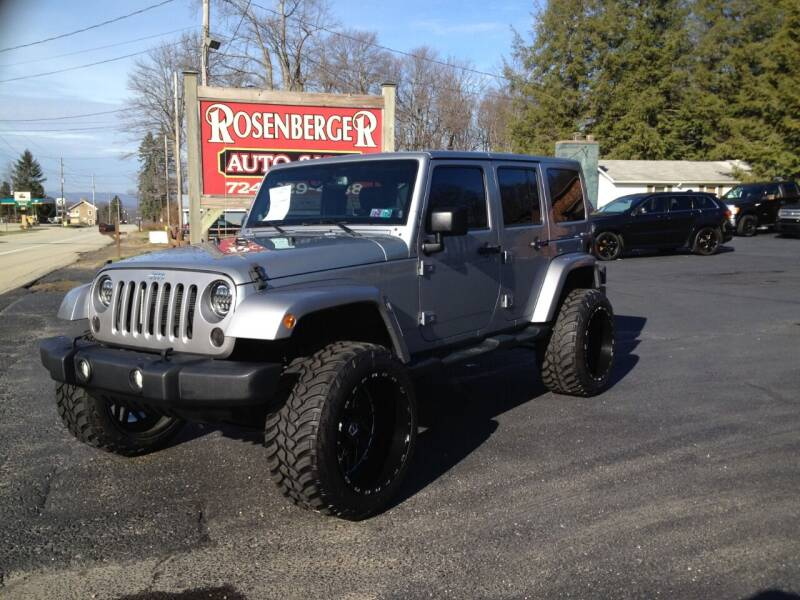 2014 Jeep Wrangler Unlimited for sale at Rosenberger Auto Sales LLC in Markleysburg PA