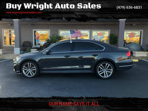 2016 Volkswagen Passat for sale at Buy Wright Auto Sales in Rogers AR