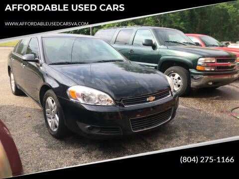 2007 Chevrolet Impala for sale at AFFORDABLE USED CARS in Richmond VA