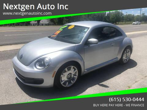 2012 Volkswagen Beetle for sale at Nextgen Auto Inc in Smithville TN