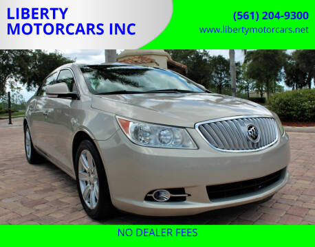2010 Buick LaCrosse for sale at LIBERTY MOTORCARS INC in Royal Palm Beach FL