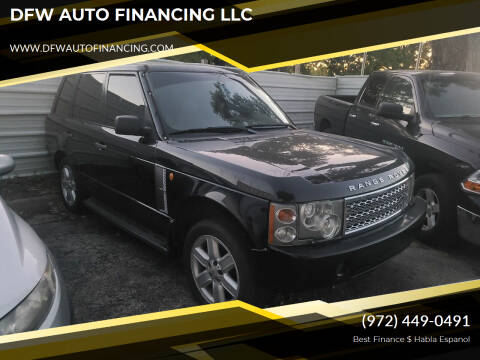 2004 Land Rover Range Rover for sale at DFW AUTO FINANCING LLC in Dallas TX