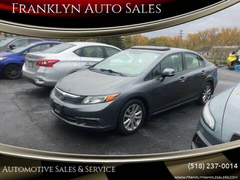 2012 Honda Civic for sale at Franklyn Auto Sales in Cohoes NY