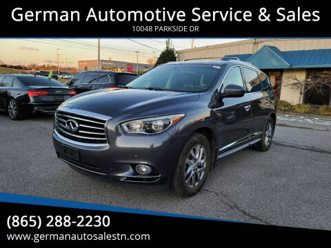 2013 Infiniti JX35 for sale at German Automotive Service & Sales in Knoxville TN