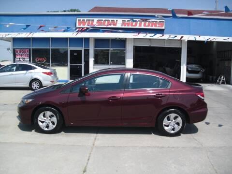 2014 Honda Civic for sale at Wilson Motors in Junction City KS