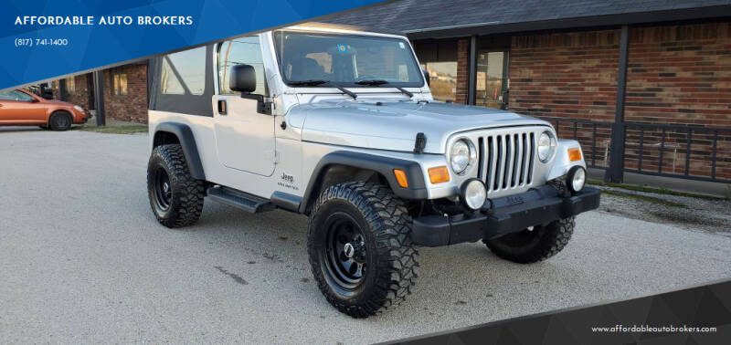 2006 Jeep Wrangler for sale at AFFORDABLE AUTO BROKERS in Keller TX