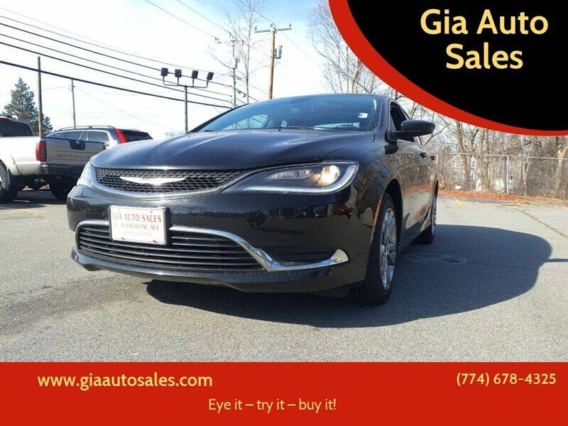 2015 Chrysler 200 for sale at Gia Auto Sales in East Wareham MA