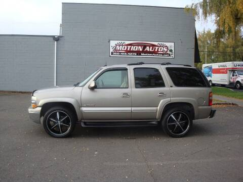 2003 Chevrolet Tahoe for sale at Motion Autos in Longview WA