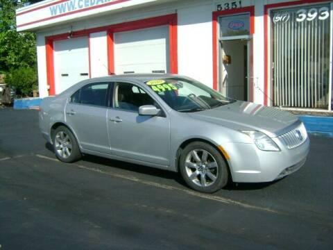 2010 Mercury Milan for sale at Cedar Auto Sales in Lansing MI