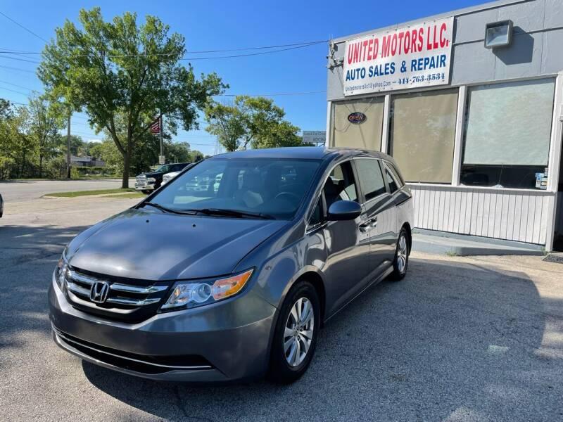 2015 Honda Odyssey for sale at United Motors LLC in Saint Francis WI